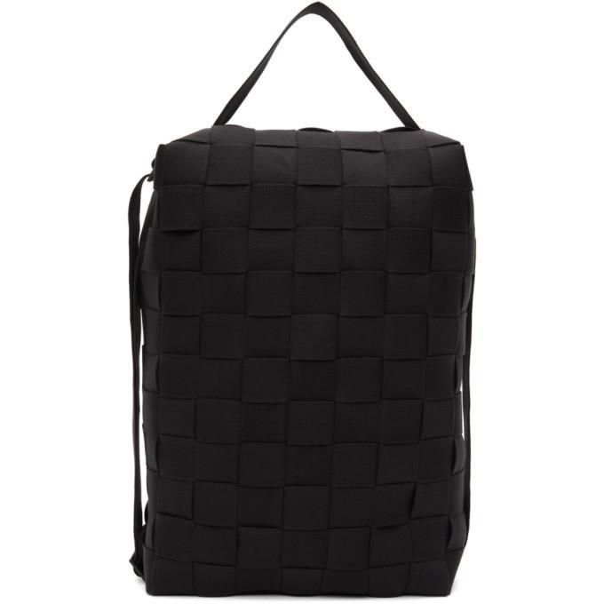 Photo: Issey Miyake Men Black Ichimatsu Backpack