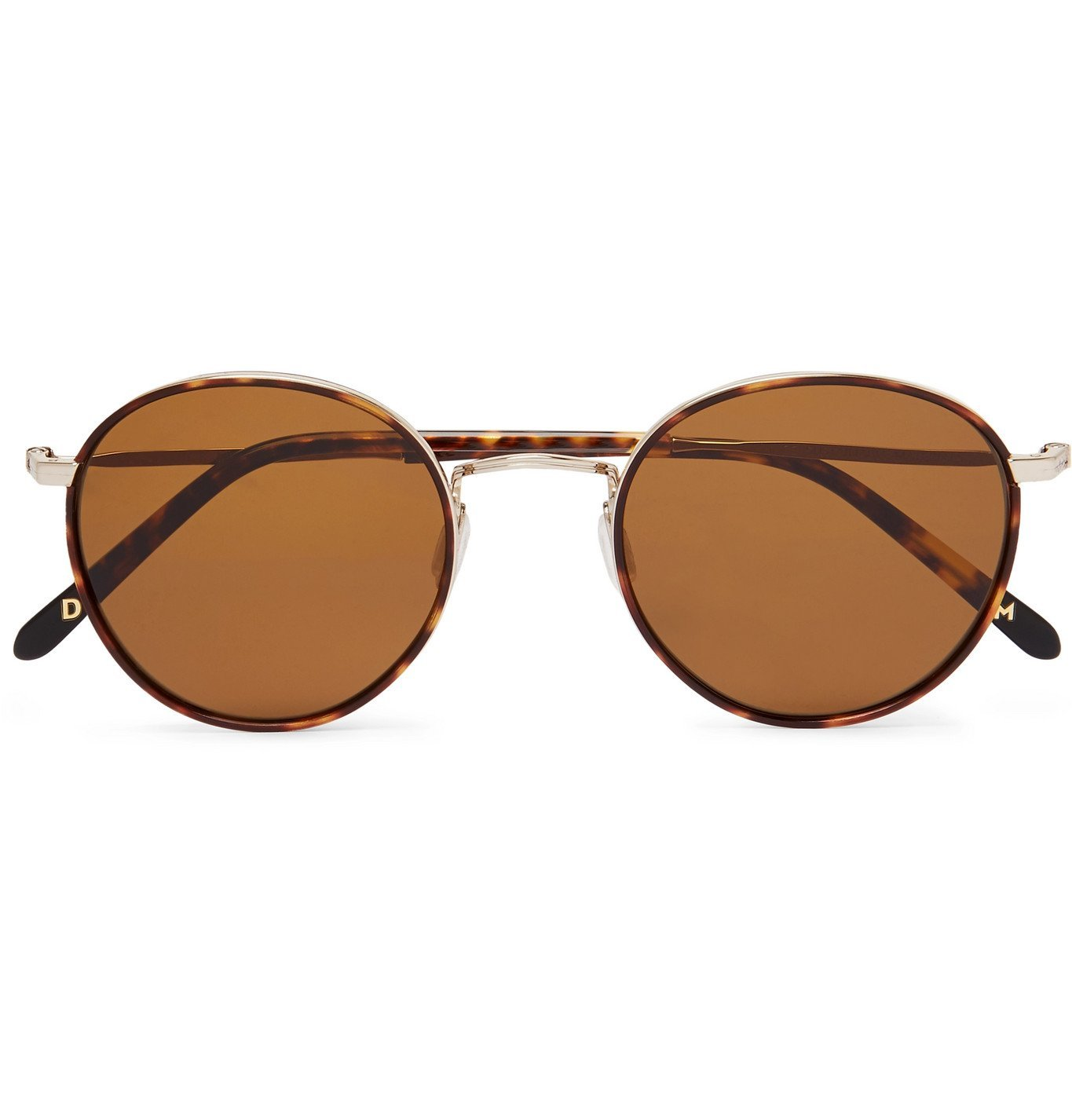 Photo: Dick Moby - Brussels Round-Frame Tortoiseshell Acetate and Gold-Tone Sunglasses - Brown