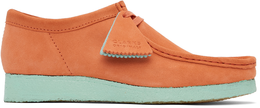 Photo: Clarks Originals Orange & Blue Suede Wallabee Derbys