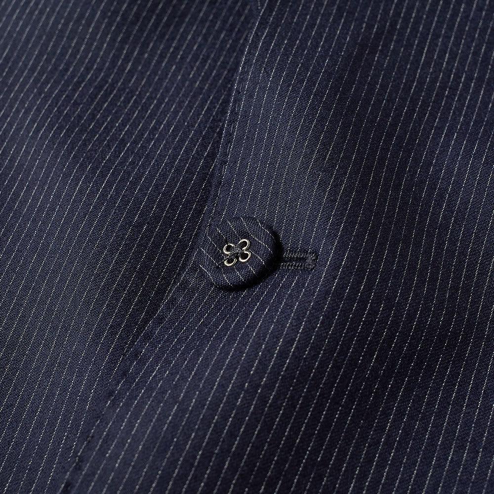 Officine Generale Pinstripe Flannel 375 Flap Pocket Jacket