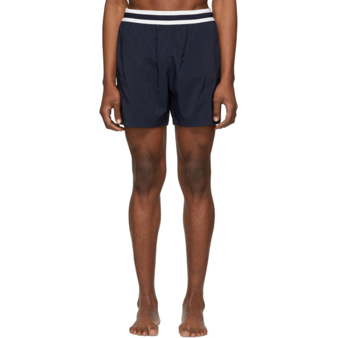 Photo: Stella McCartney Navy Medium-Length Swim Shorts
