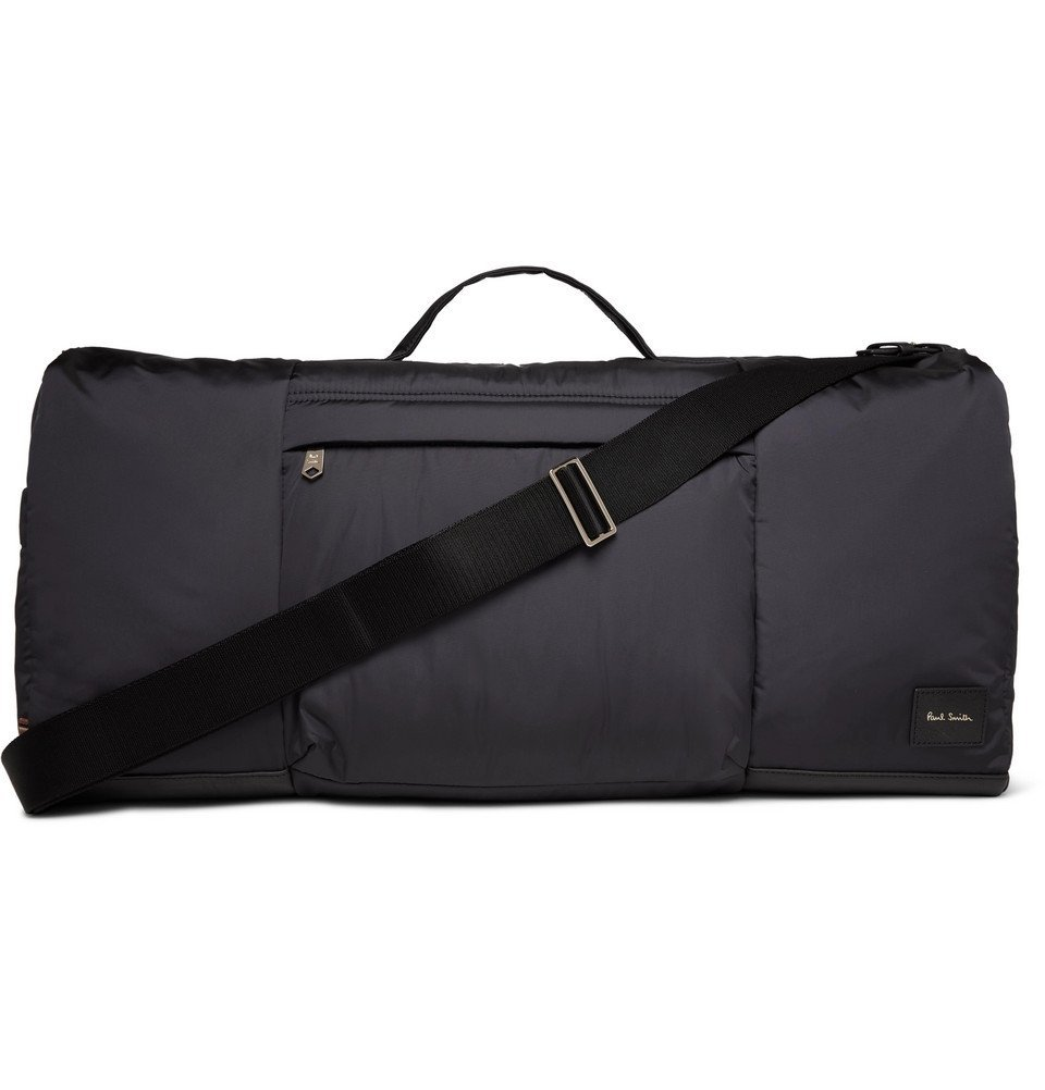 Photo: Paul Smith - Leather-Trimmed Shell Holdall - Navy