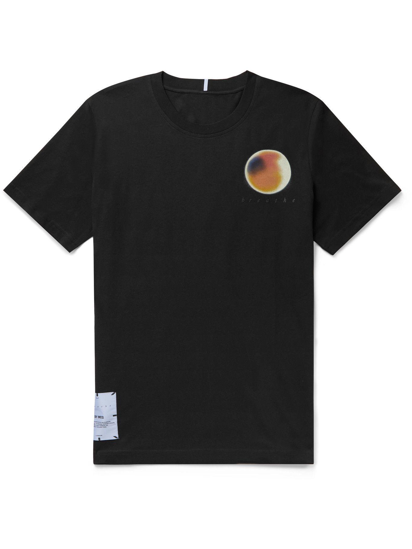 MCQ - Printed Cotton-Jersey T-Shirt - Black