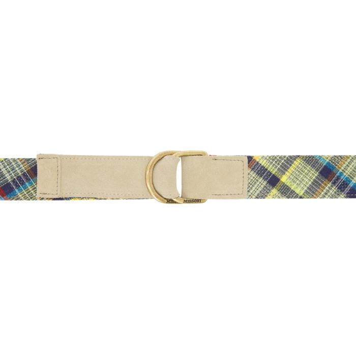 Photo: Missoni Multicolor Check Pattern Belt