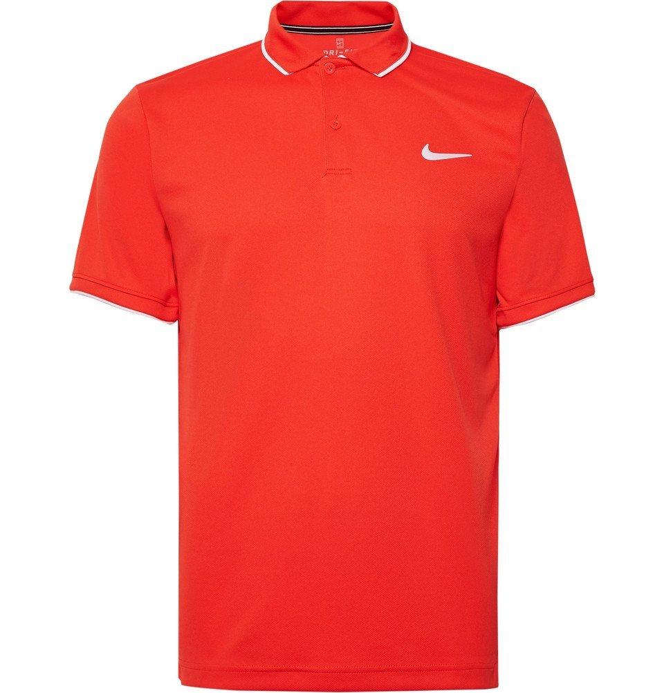 Photo: Nike Tennis - NikeCourt Dri-FIT Tennis Polo Shirt - Men - Tomato red