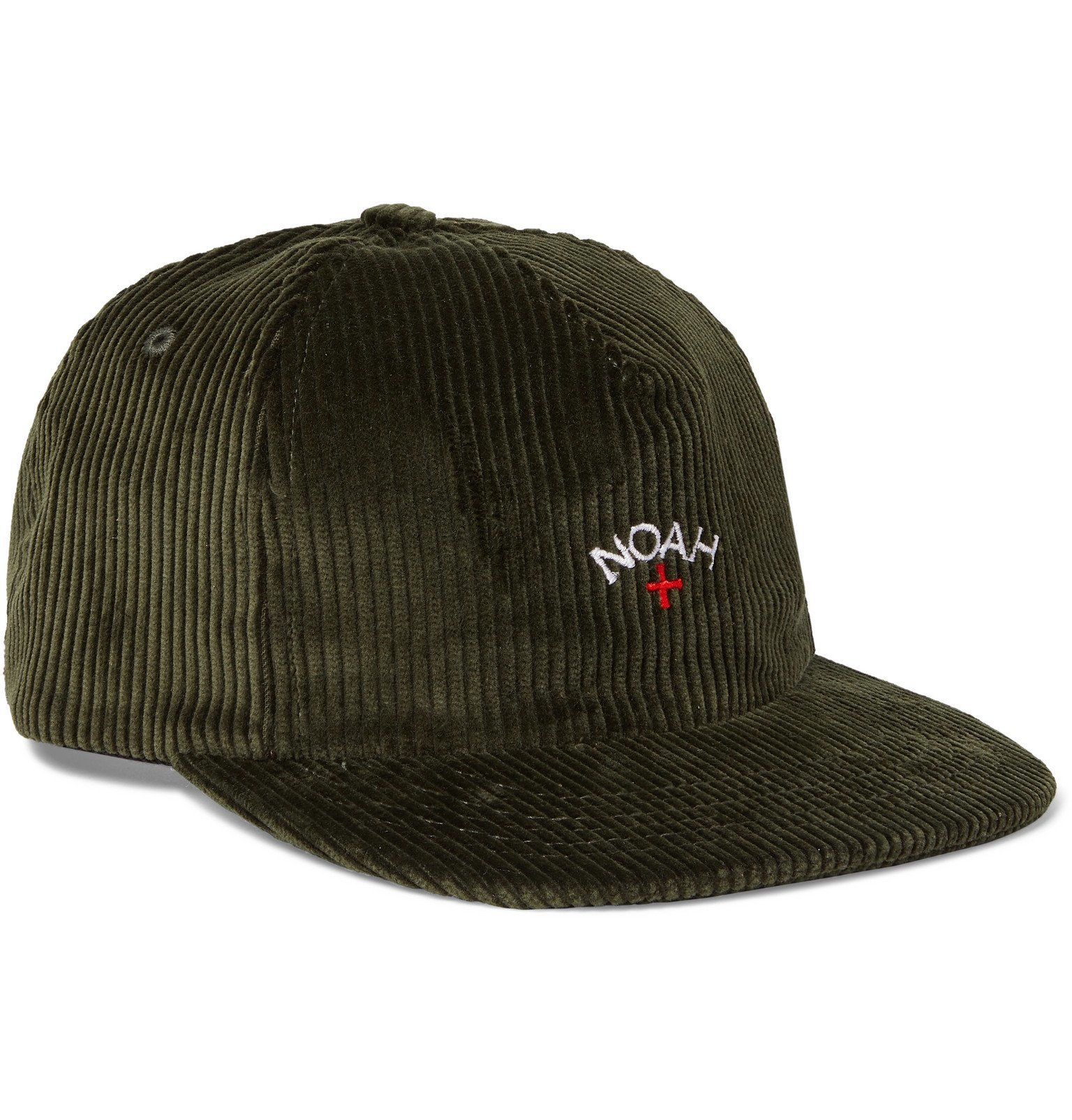 Photo: Noah - Logo-Embroidered Cotton-Corduroy Baseball Cap - Green