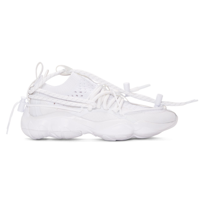 Photo: Reebok by Pyer Moss White DMX Fusion Sneakers