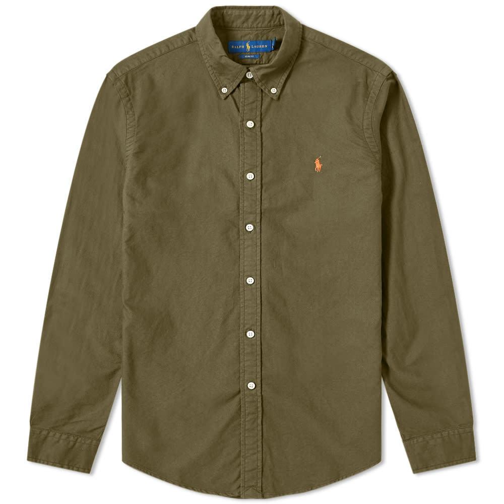 Photo: Polo Ralph Lauren Slim Fit Button Down Garment Dyed Shirt