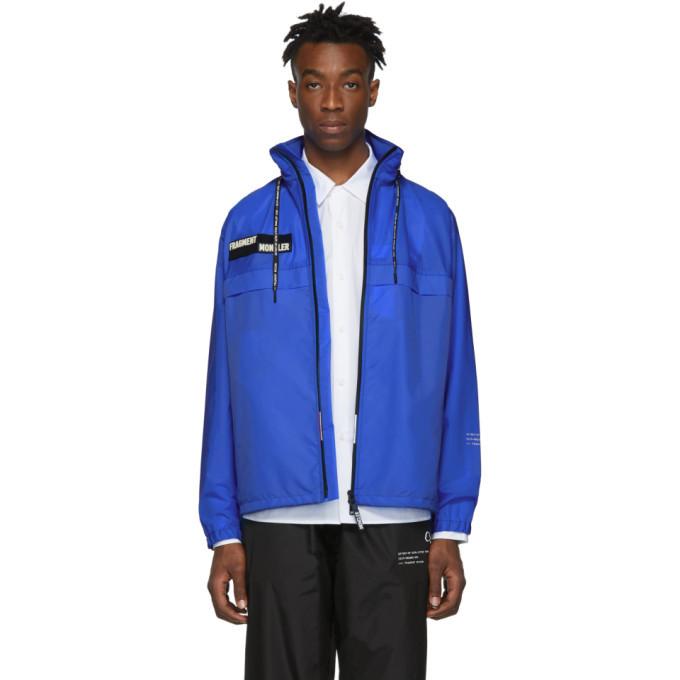 Photo: Moncler 7 Moncler Fragment Hiroshi Fujiwara Blue Nylon Patch Jacket