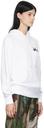 Sacai White KAWS Edition Logo Hoodie