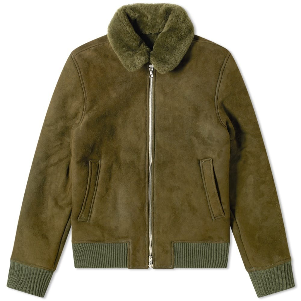 Photo: Officine Generale Saul Shearling Bomber Jacket