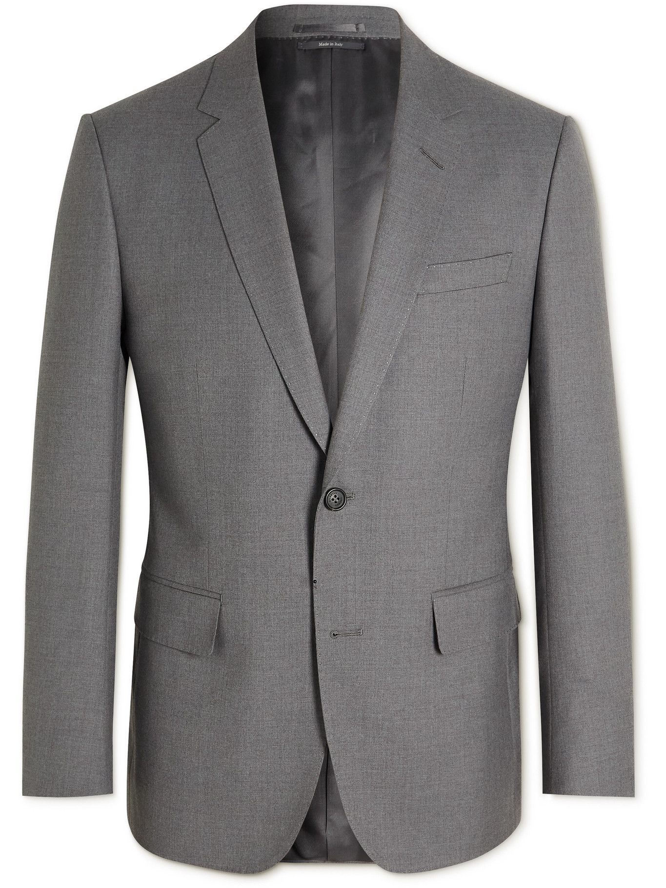 Photo: DUNHILL - Mayfair Slim-Fit Super 150s Wool Suit Jacket - Gray