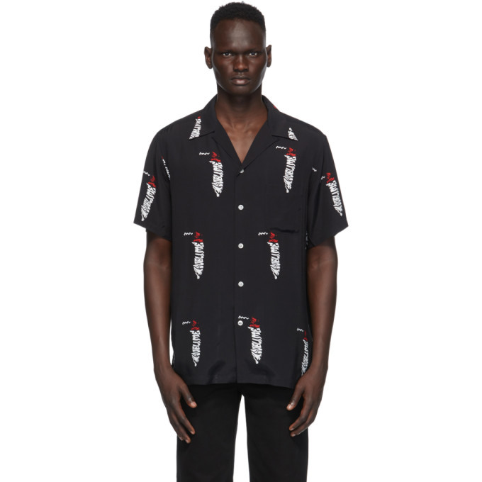 Photo: WACKO MARIA Black and White Sublime Edition Hawaiian Shirt