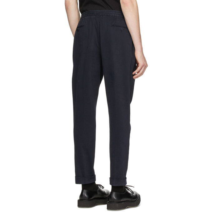 Officine Generale Navy Garment-Dyed Phil Trousers