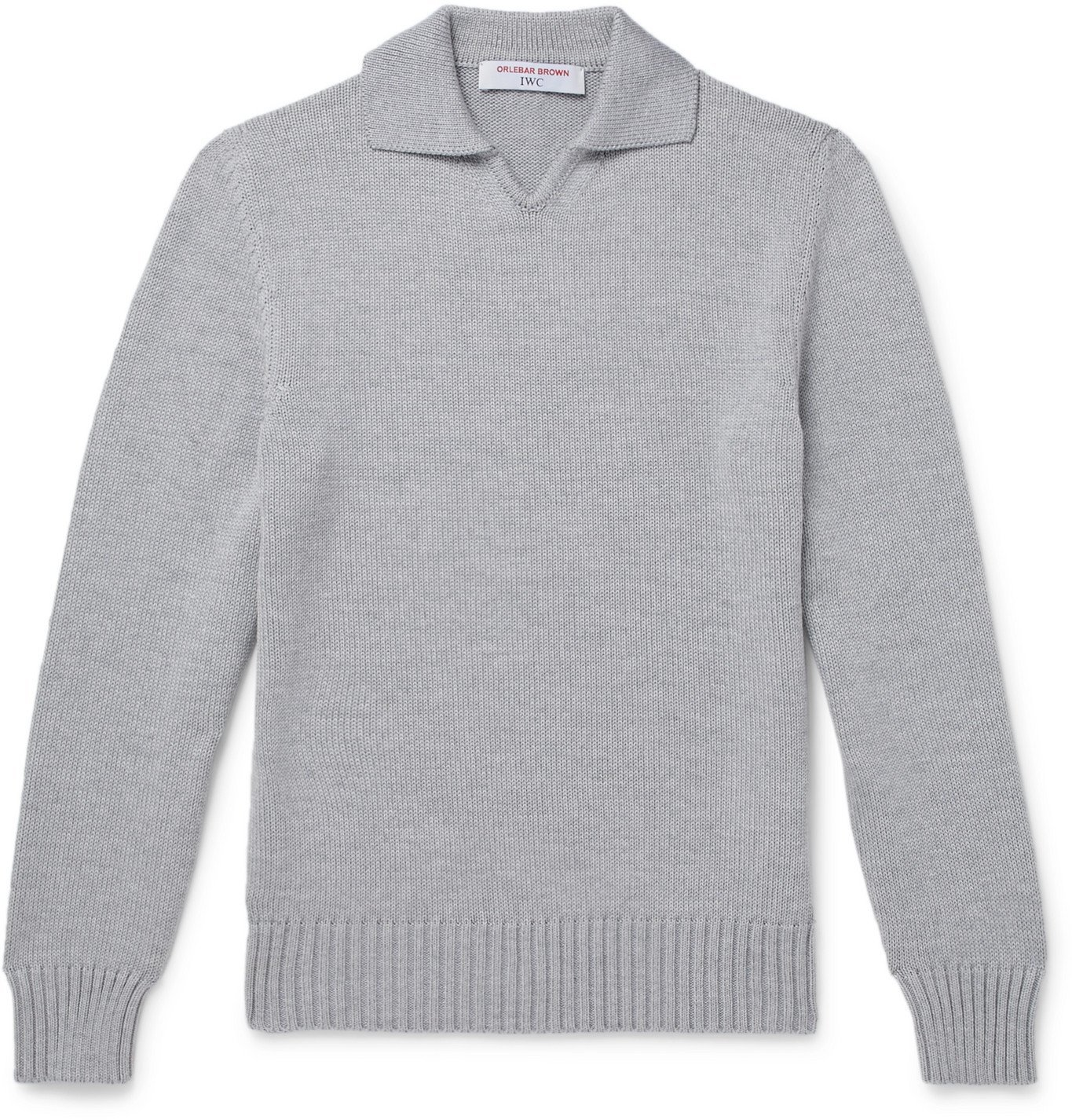 Photo: Orlebar Brown - IWC Schaffhausen Headley Slim-Fit Cable-Knit Merino Wool Sweater - Gray