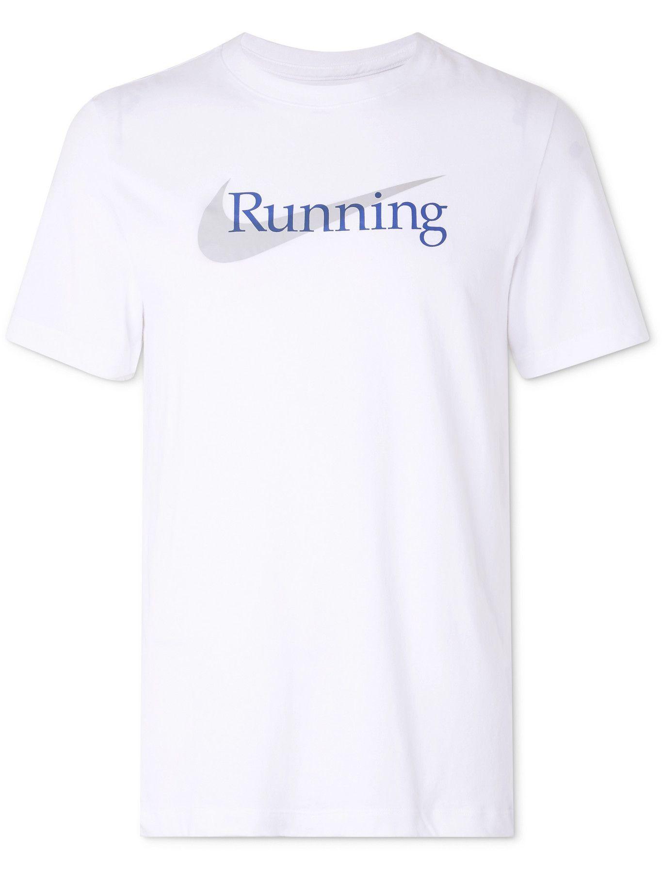 Photo: NIKE RUNNING - Logo-Print Dri-FIT T-Shirt - White