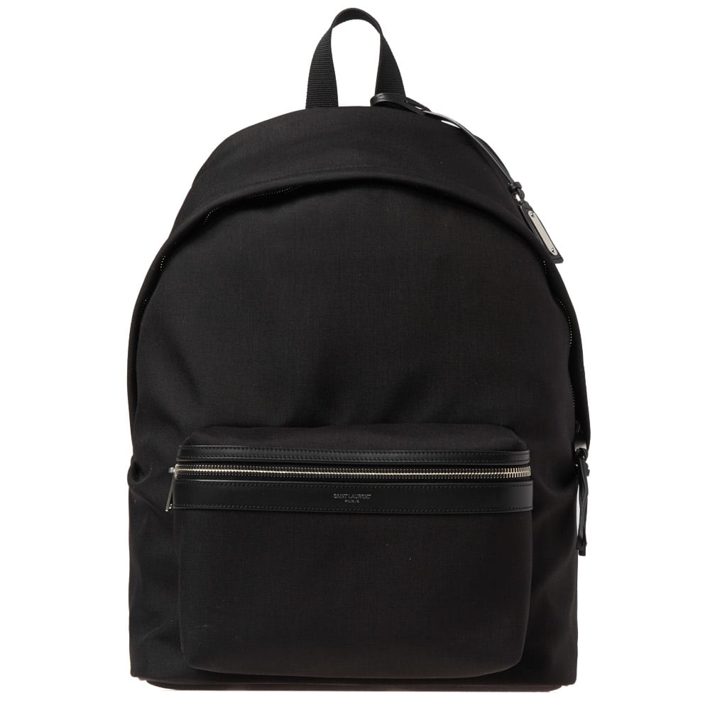 Photo: Saint Laurent Canvas City Backpack