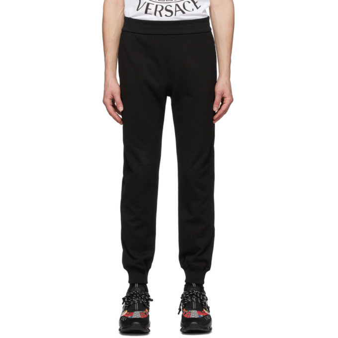 Photo: Versace SSENSE Exclusive Black Medusa Laurel Lounge Pants