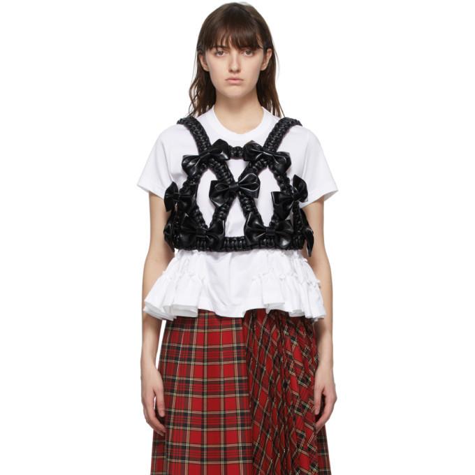 Photo: Noir Kei Ninomiya Black Faux-Leather Bow Harness