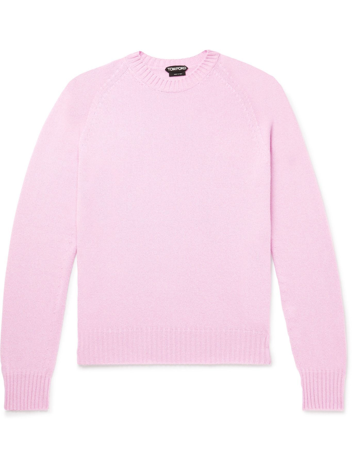 Photo: TOM FORD - Slim-Fit Cashmere and Cotton-Blend Sweater - Purple