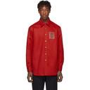 Raf Simons Red Denim Slim-Fit Shirt
