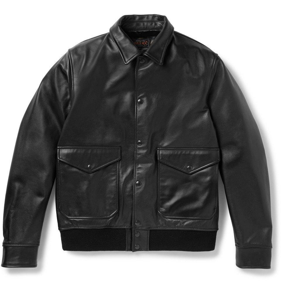 Photo: Beams Plus - Leather Blouson Jacket - Black