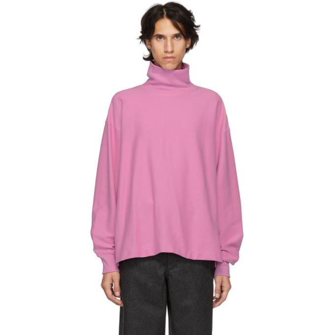 Photo: Lemaire Pink Cotton Turtleneck