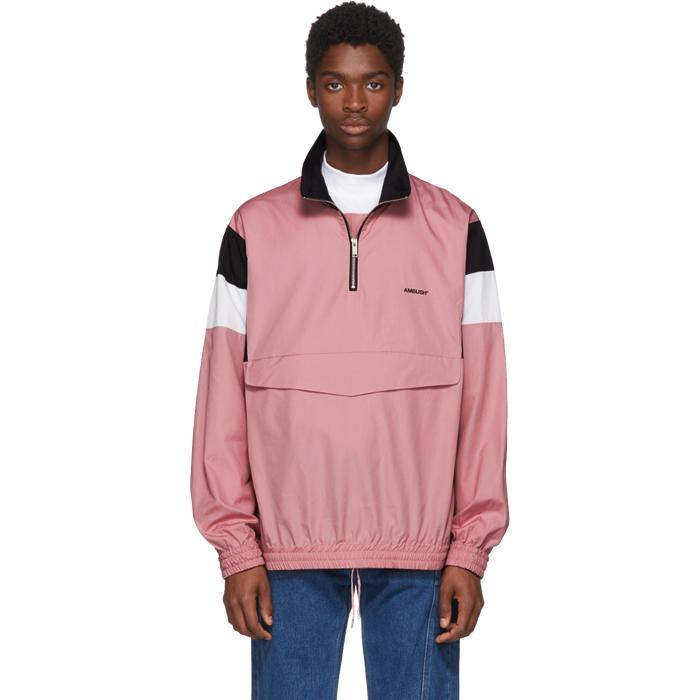 Photo: Ambush Pink Track Shirt Jacket
