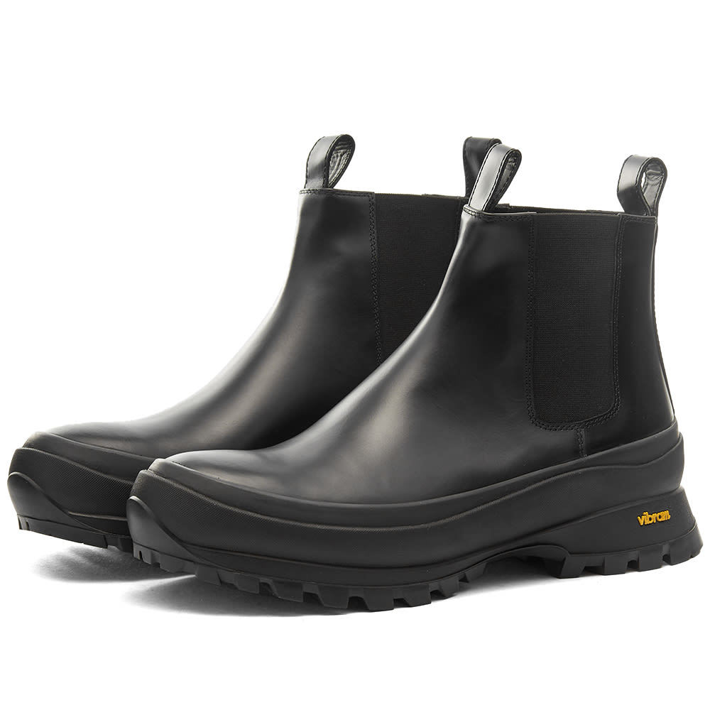 Photo: Jil Sander Leather Commando Chelsea Boot