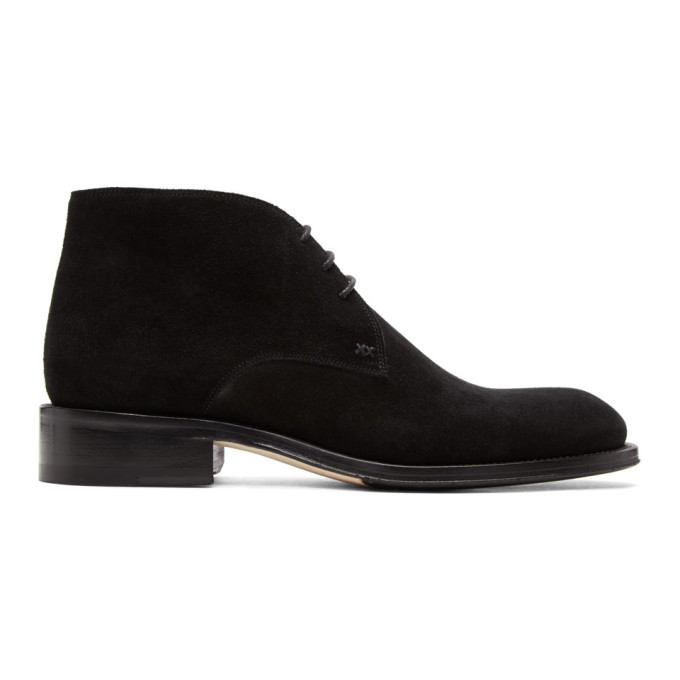 Photo: Brioni Black Suede Mosley Military Boots