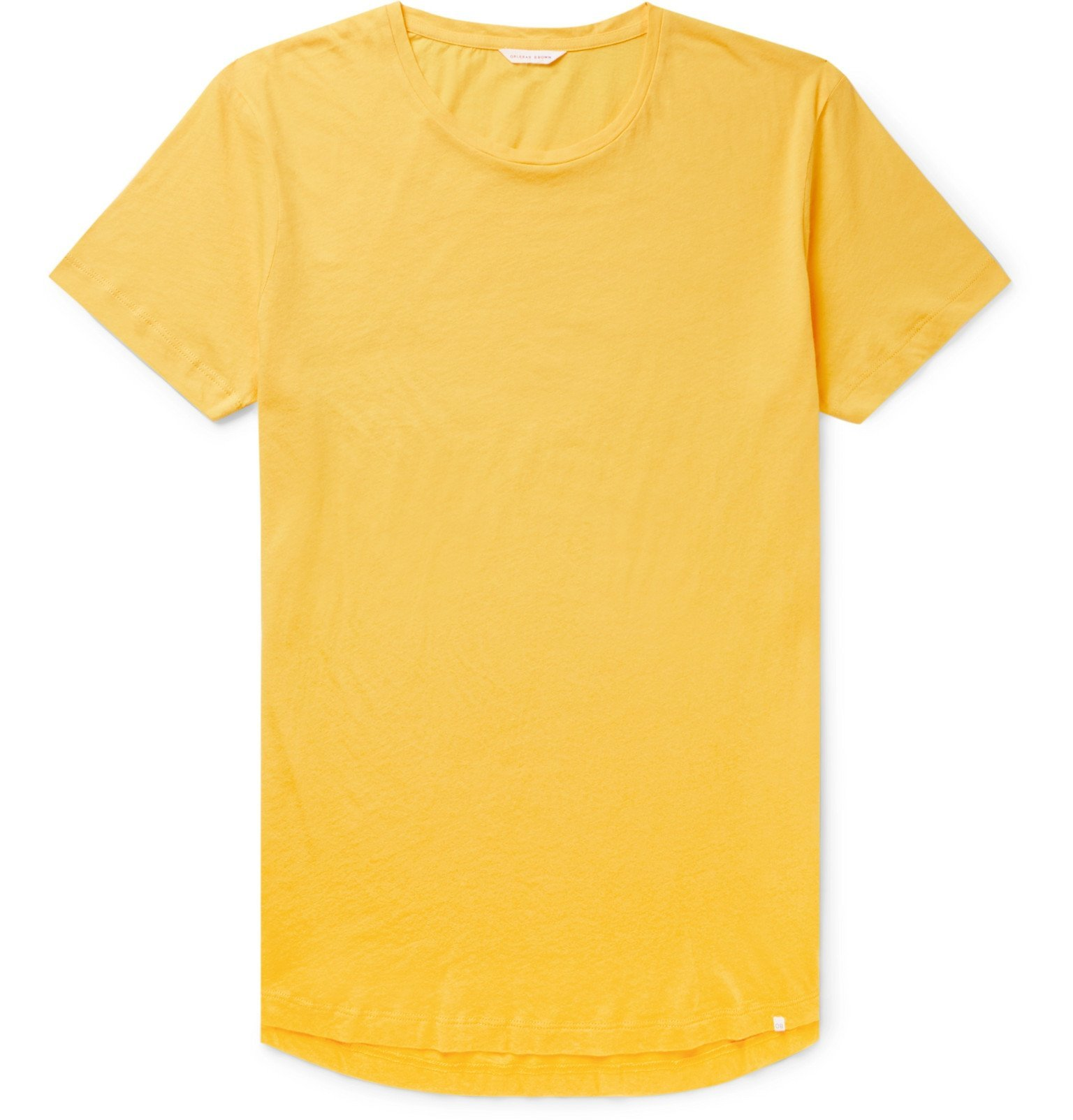 Photo: Orlebar Brown - Ob-T Cotton-Jersey T-Shirt - Yellow
