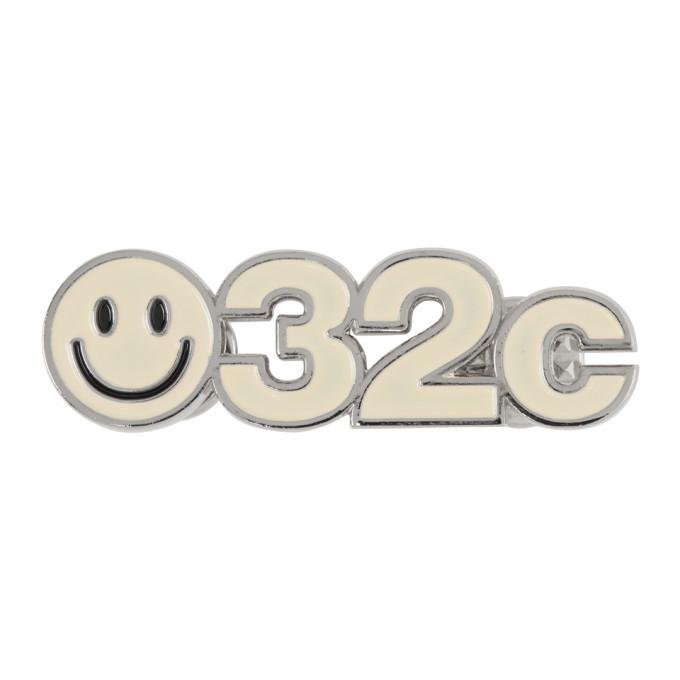 032c SSENSE Exclusive Off-White Smiley Pin