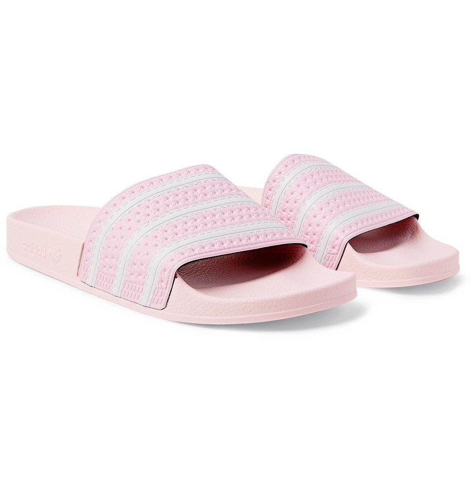 adidas Originals - Adilette Textured-Rubber Slides - Men - Pink