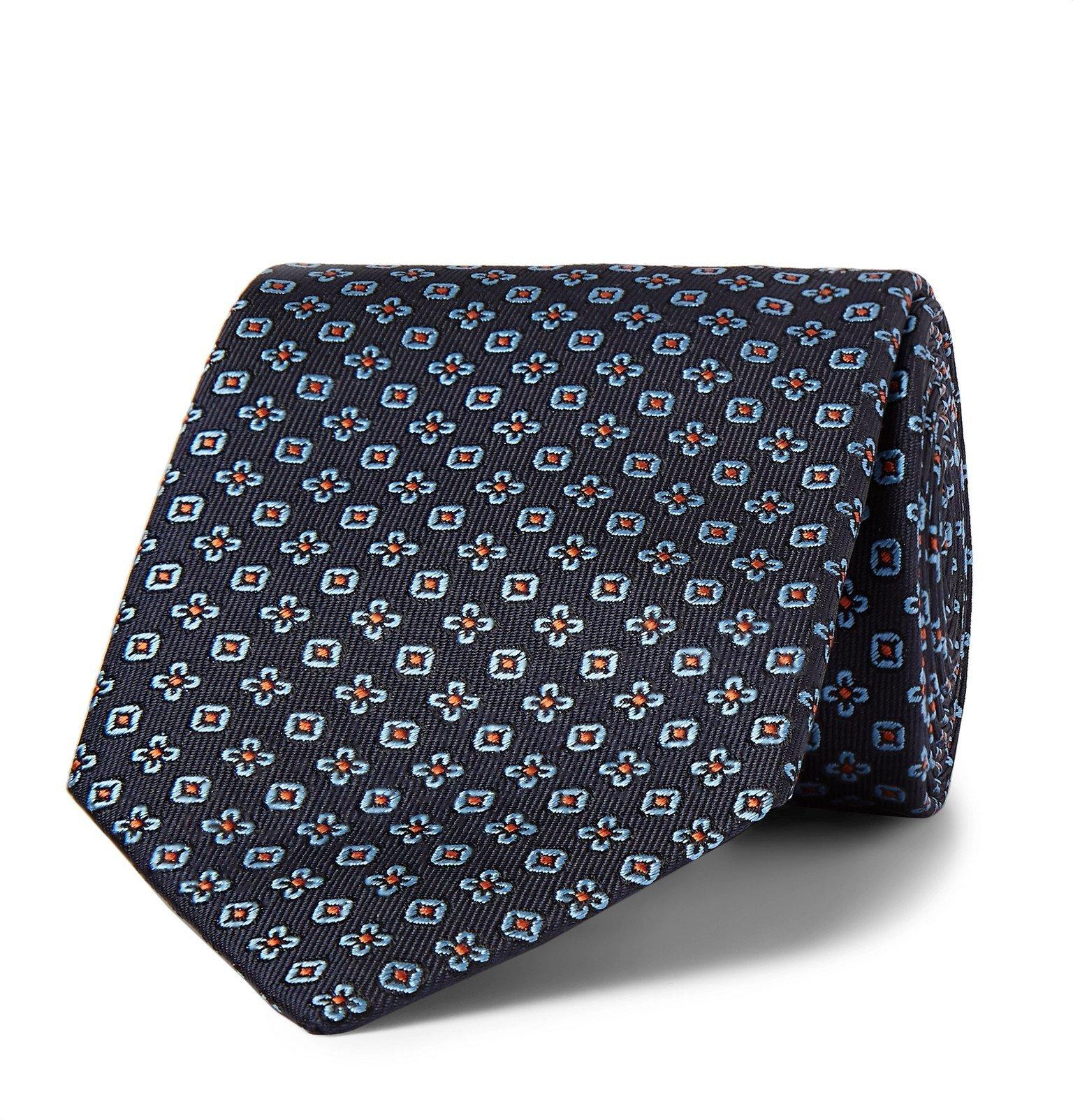Photo: Etro - 8cm Embroidered Silk-Twill Tie - Blue