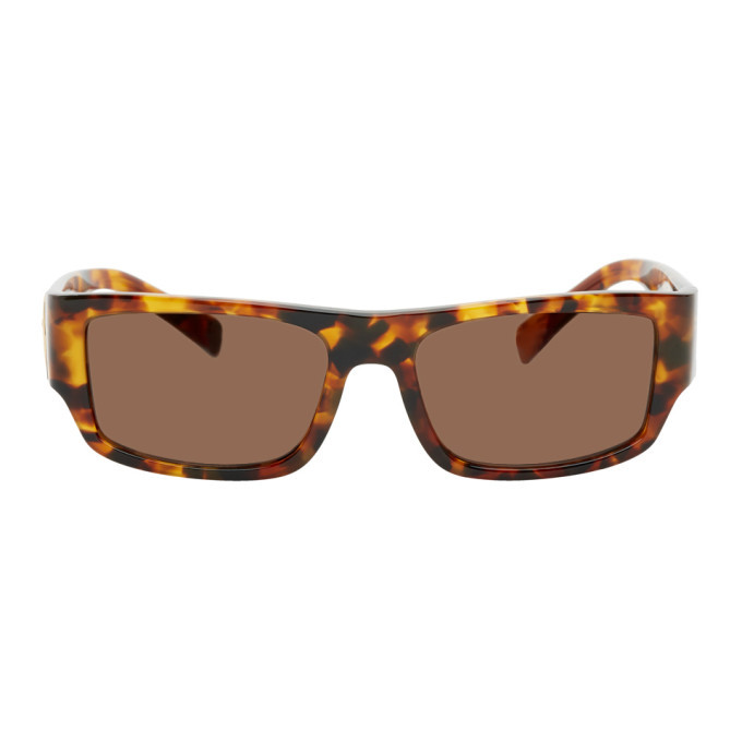 Photo: Versace Tortoiseshell Rectangular Sunglasses
