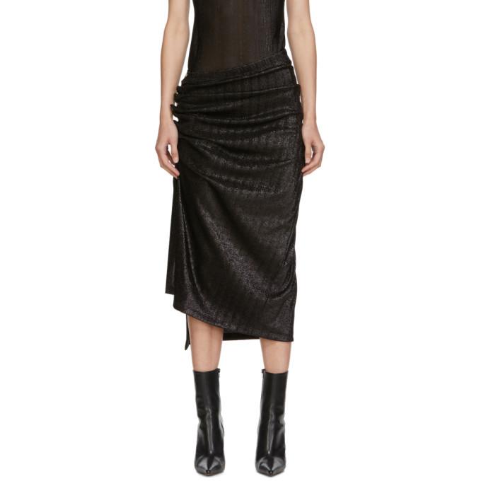 Photo: Paco Rabanne Black Draped Skirt