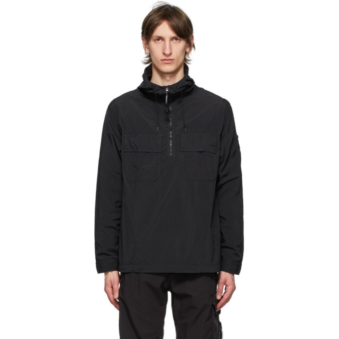 C.P. Company Black Lens Hooded Pullover Jacket
