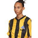Martine Rose Yellow and Black Ruched Football T-Shirt