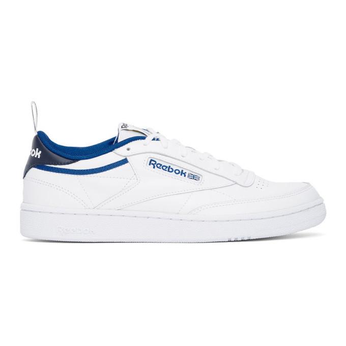 Photo: Reebok Classics White and Blue Club C 85 Sneakers