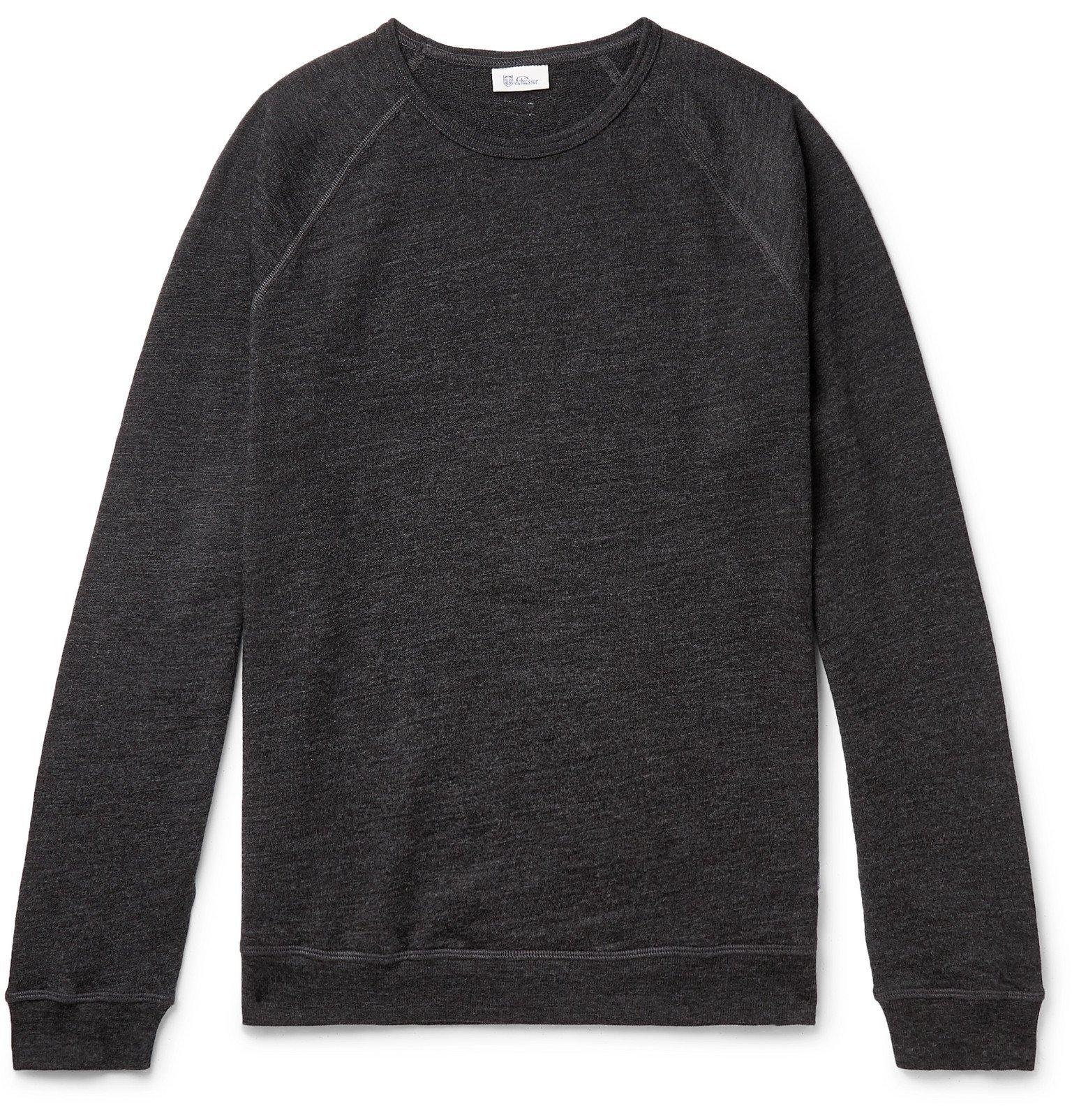 Schiesser - Manuel Mélange Merino Wool Sweatshirt - Gray