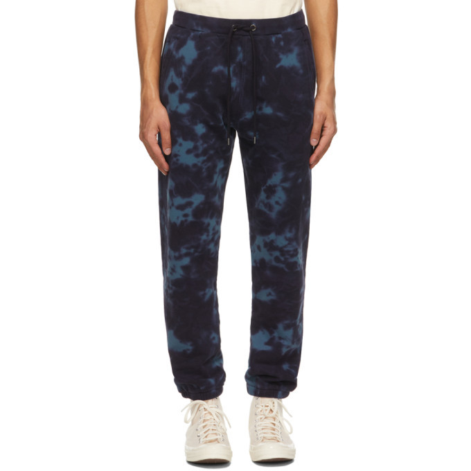 Photo: Frame Navy Tie-Dye Lounge Pants