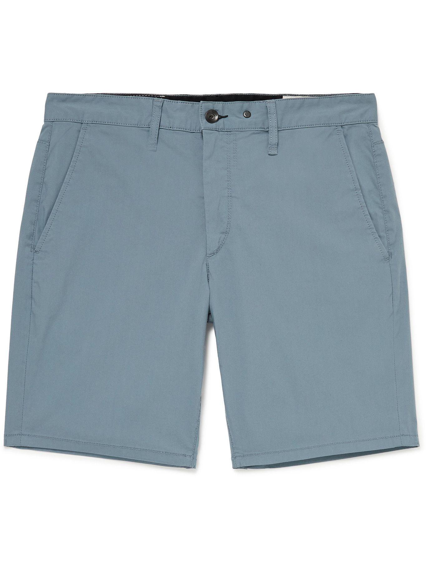 Photo: RAG & BONE - Paperweight Cotton-Blend Chino Shorts - Blue