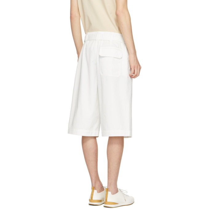 Lemaire White Trench Shorts
