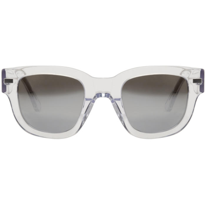 Acne Studios Transparent Frame Metal Sunglasses