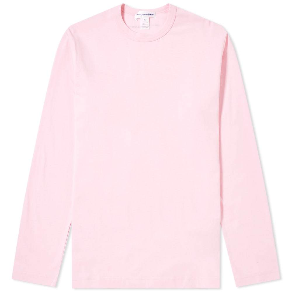 Photo: Comme des Garcons SHIRT Long Sleeve Logo Tee Pink