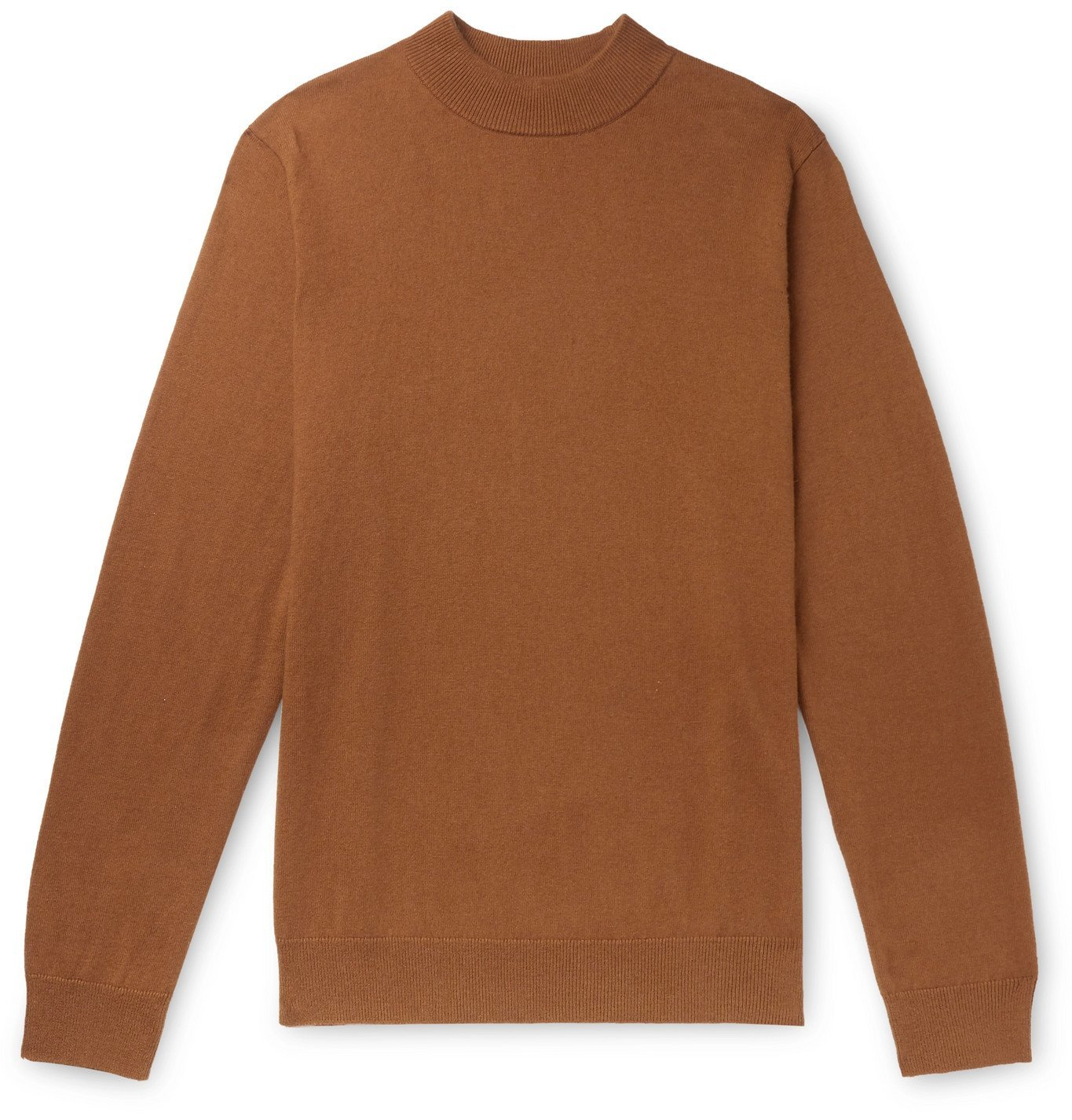 Photo: NN07 - Martin Cotton and Cashmere-Blend Mock-Neck Sweater - Brown