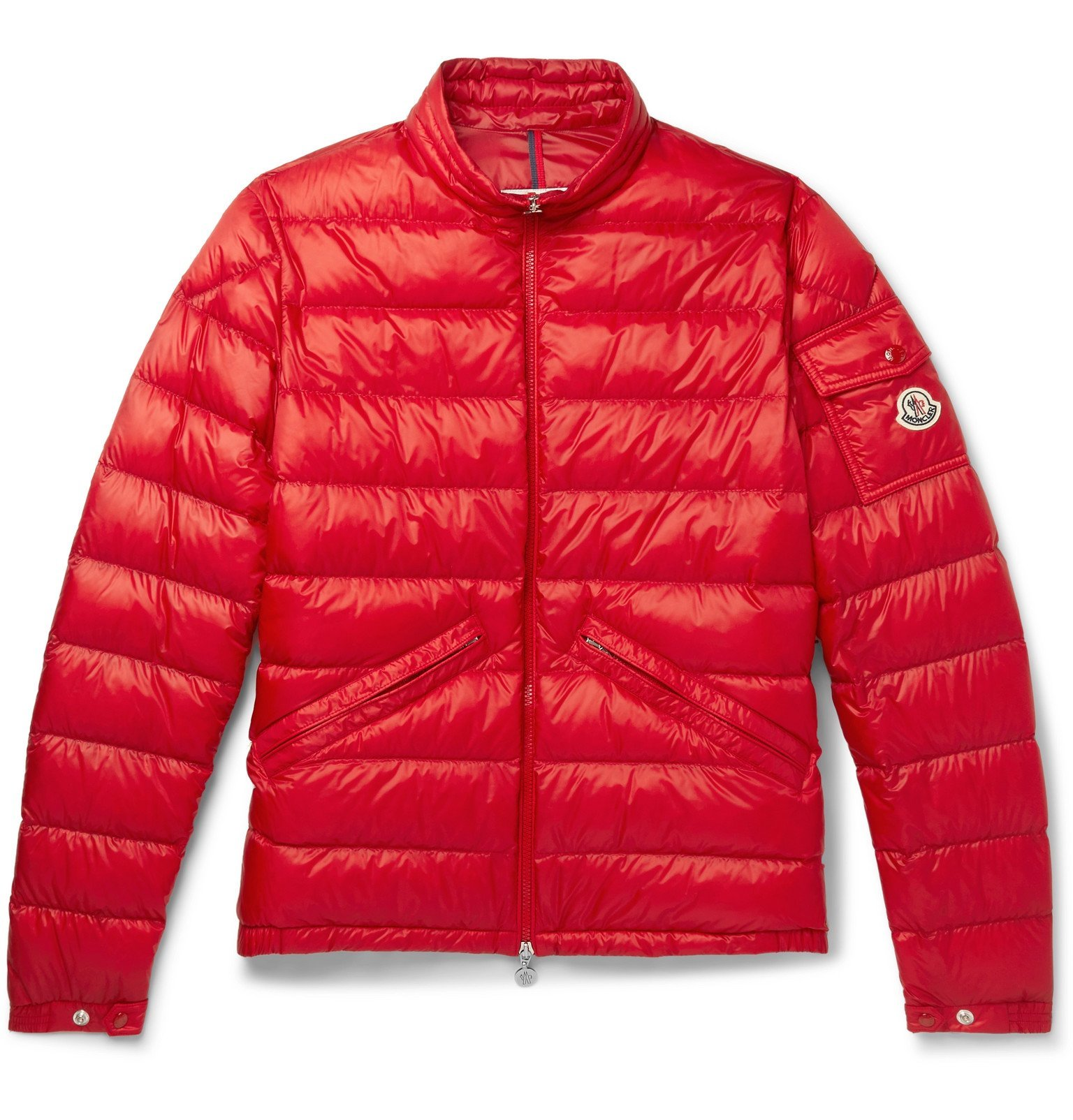 Photo: Moncler - Quilted Shell Down Jacket - Red