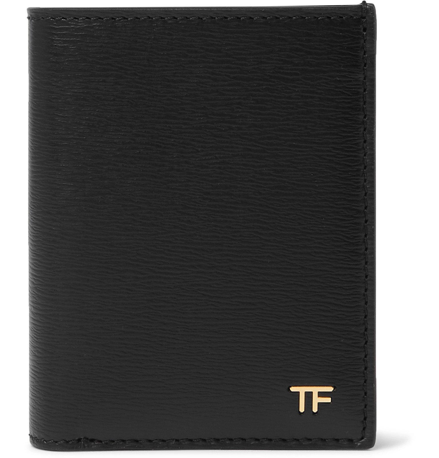 Photo: TOM FORD - Full-Grain Leather Bifold Cardholder - Black