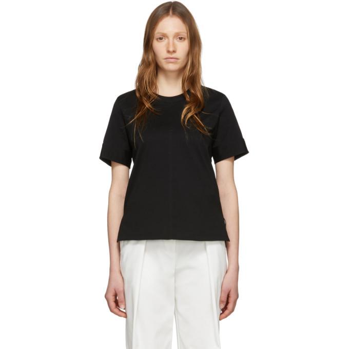 3.1 Phillip Lim Black Snap Cuff T-Shirt