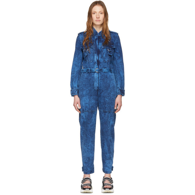 Stella McCartney Blue Denim Acid Jumpsuit